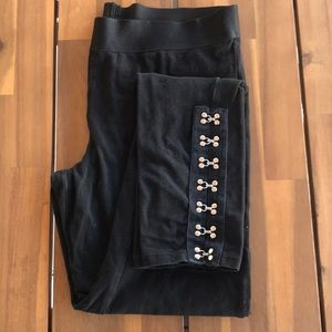 Socialite black hook and eye detail legging